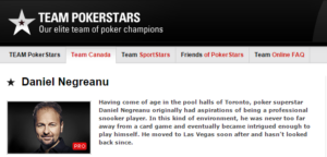 Daniel Negreanu Team PokerStars