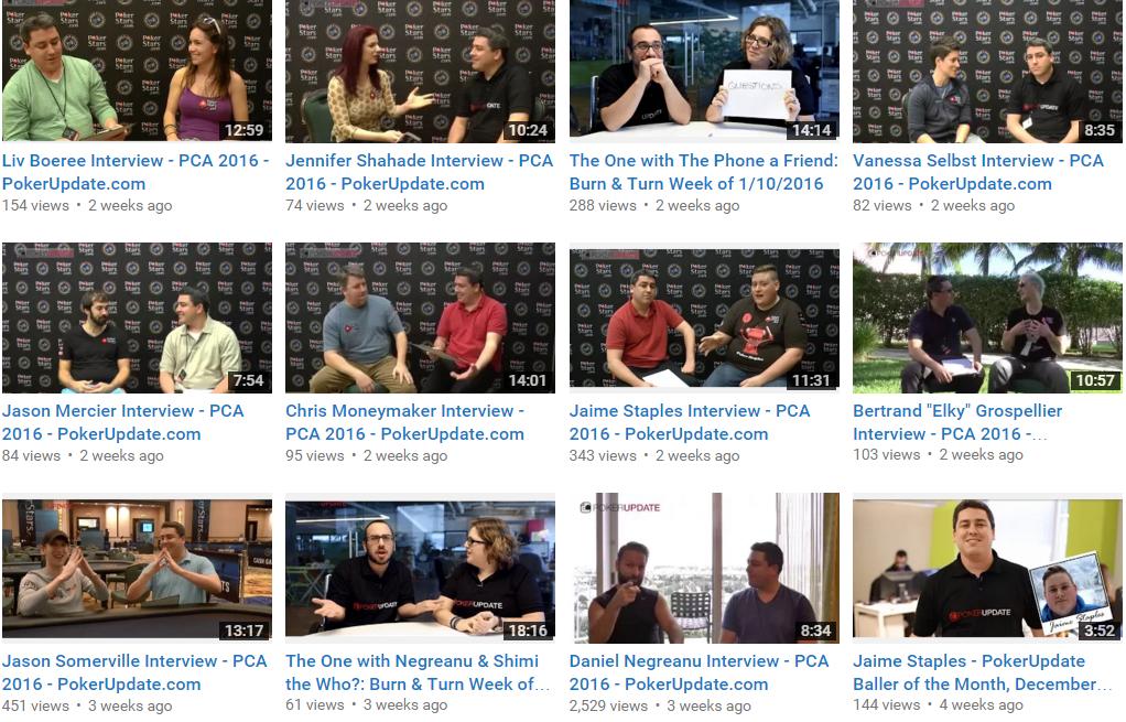 PCA Interviews