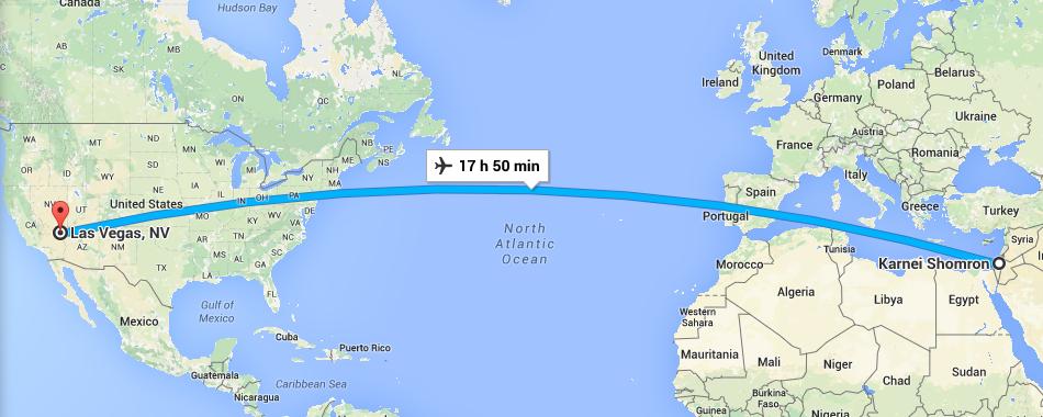 Distance to Las Vegas