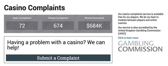 casino complaints