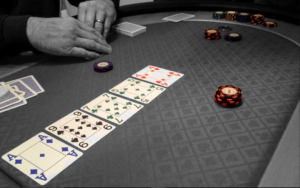 cards at poker table