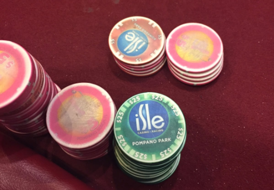 Isle Casino Pompano poker chips