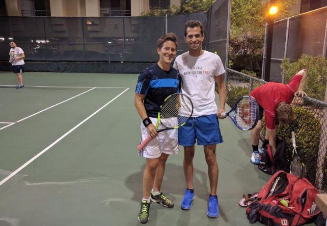 Shai Zurr Vanessa Selbst tennis
