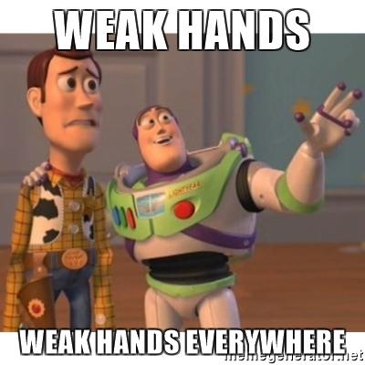 weak hands
