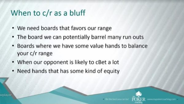 when to check-raise as a bluff