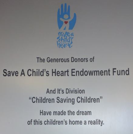 Save A Child's Heart Plaque