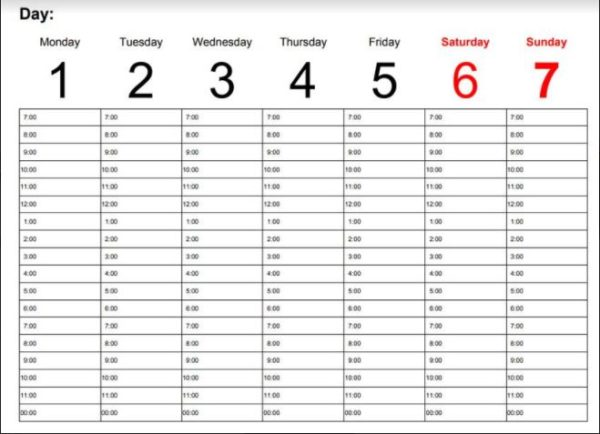 Poker Study Timetable