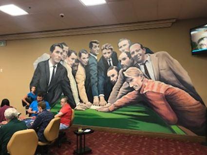 Ocean's 11 Rat Pack mural