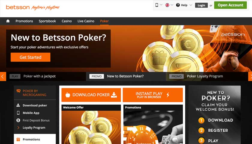 Betsson Poker screenshot