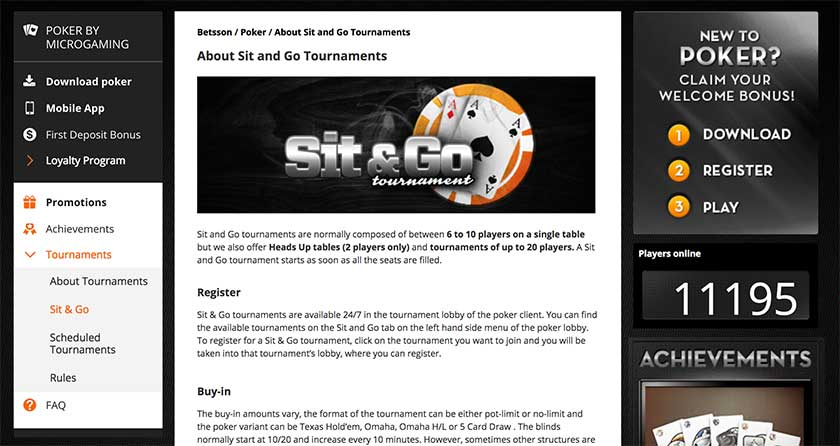 Betsson online poker tournaments