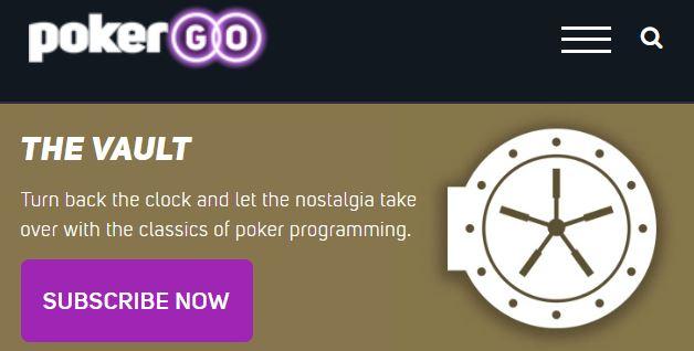 PokerGO Vault