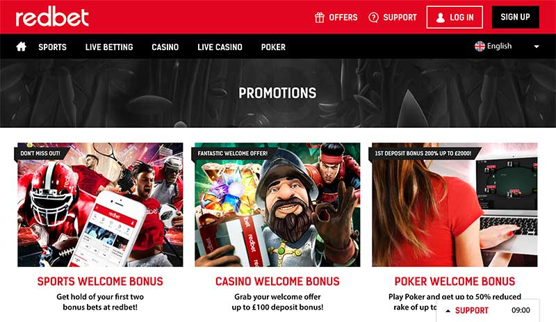 Redbet poker new player bonuses
