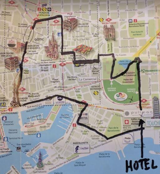 Barcelona schematic map