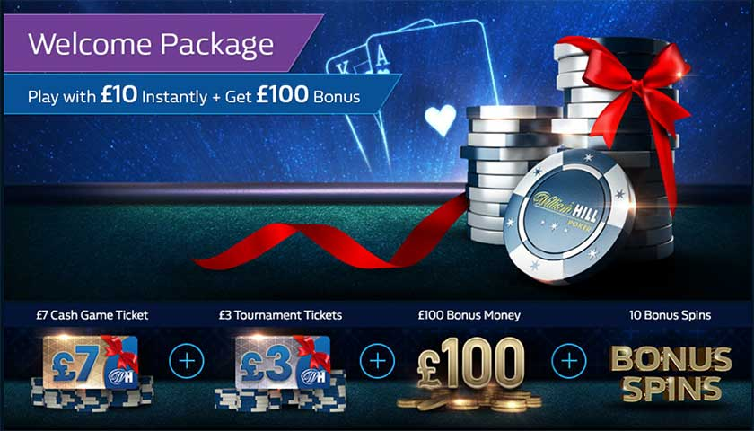 William Hill poker welcome bonus