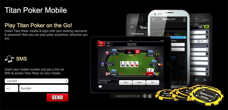 Titan Poker mobile