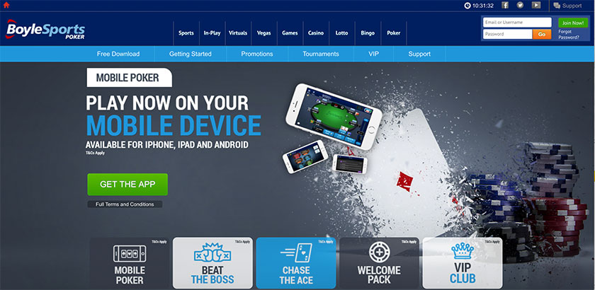 BoyleSports Poker screenshot