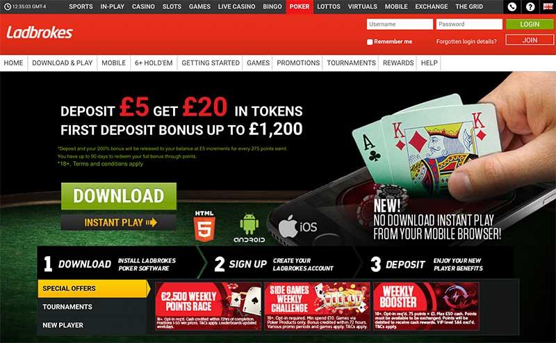 Ladbrokes poker screenshot