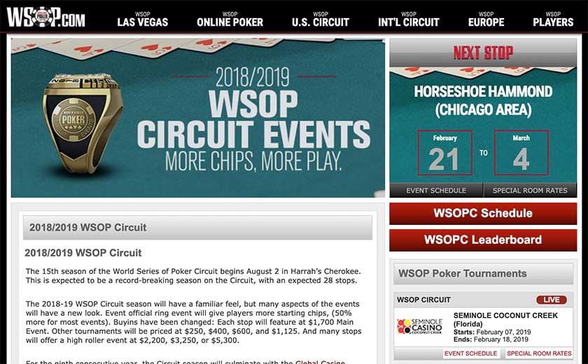 wsop poker tournaments