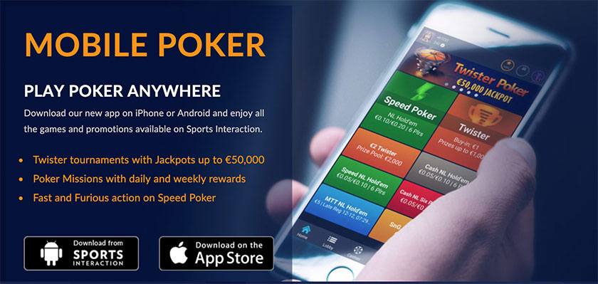 sports interaction mobile poker