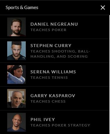 MasterClass courses Negreanu Ivey