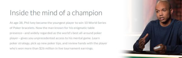 Phil Ivey MasterClass description