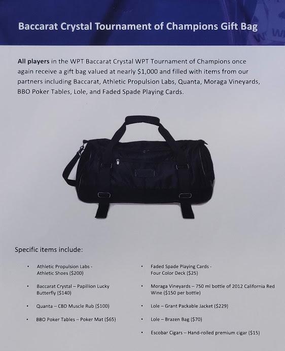 WPT TOC Gift Bag