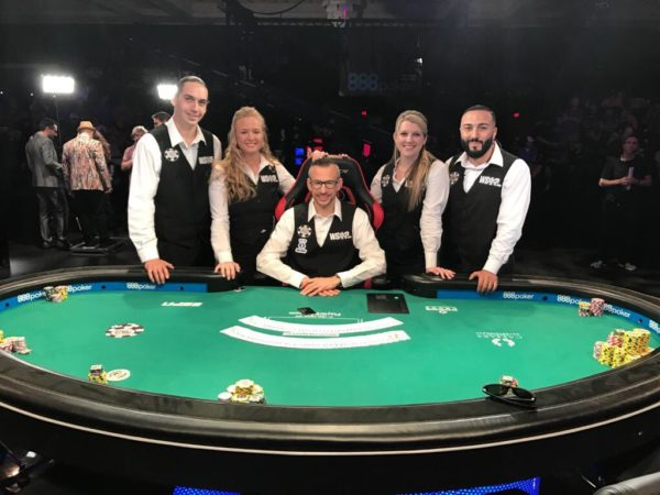 2017 WSOP Main Event final table dealers