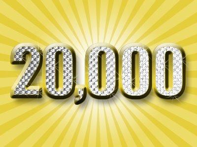 20,000 visitors
