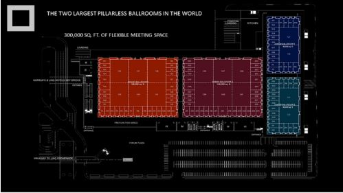 Caesars Forum floor plan
