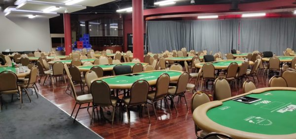 Rio bowling alley poker room