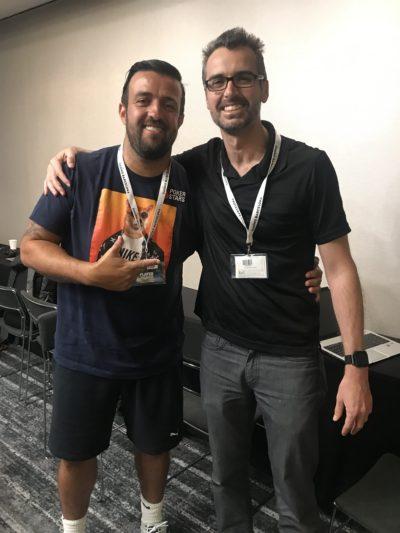 Andre Akkari with Geoff Fisk