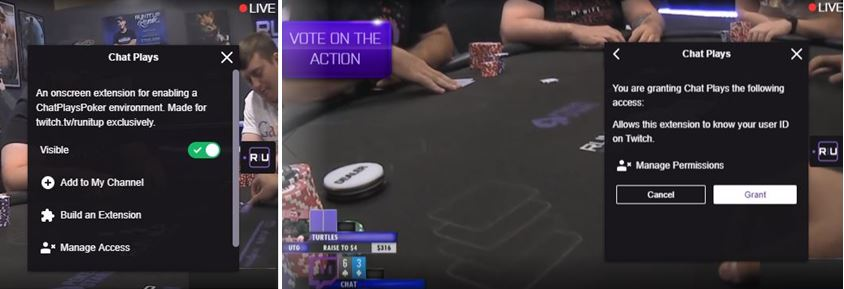 Chat Plays Poker extension