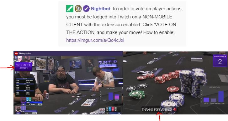 Chat Plays Poker voting
