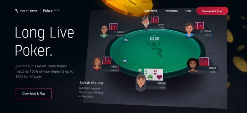 Run It Once Poker homepage