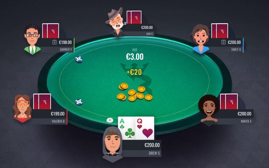 Run It Once Poker splash pot