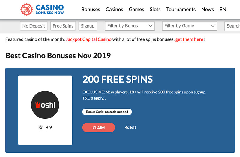 bonuses casino bonus hunters search for