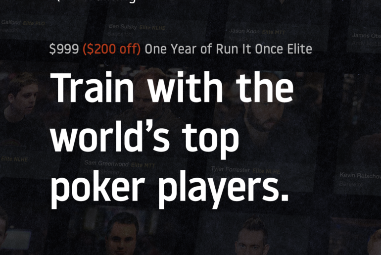 Run It Once Training sale banner