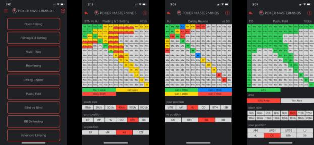 Preflop Advantage Range Screenshots