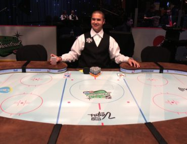 NHL charity poker shootout table