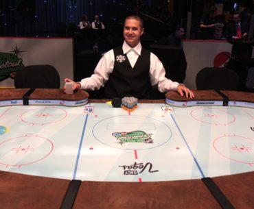 NHL charity poker shootout table