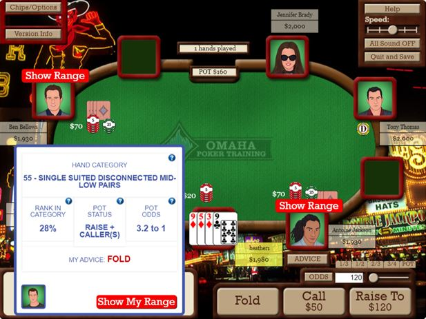 Omaha Poker Training