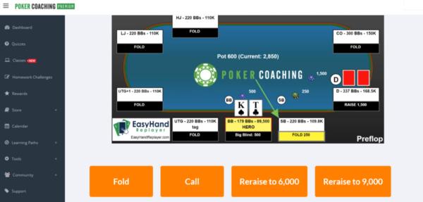 Pokercoaching.com hand quiz