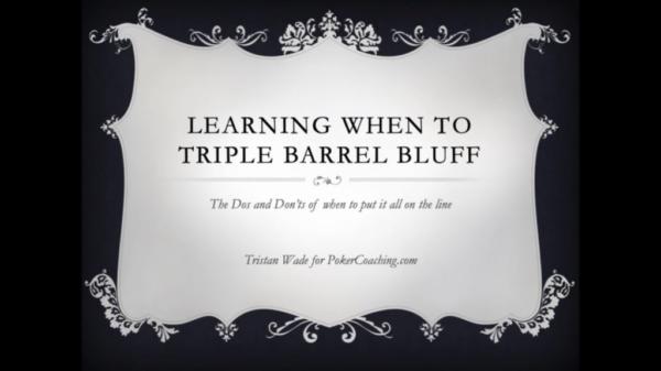triple barrel bluff