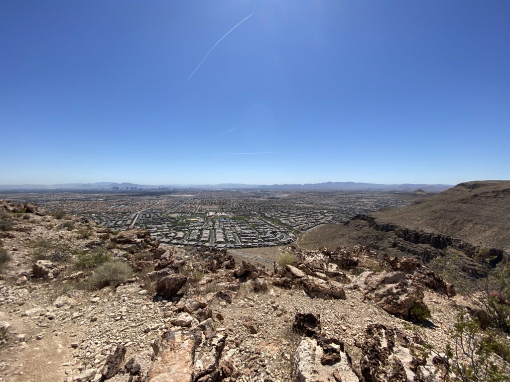 Vegas Strip from the mountains