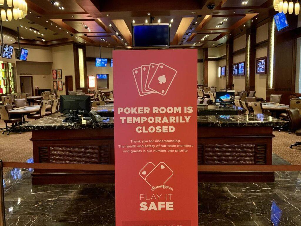 poker room closed