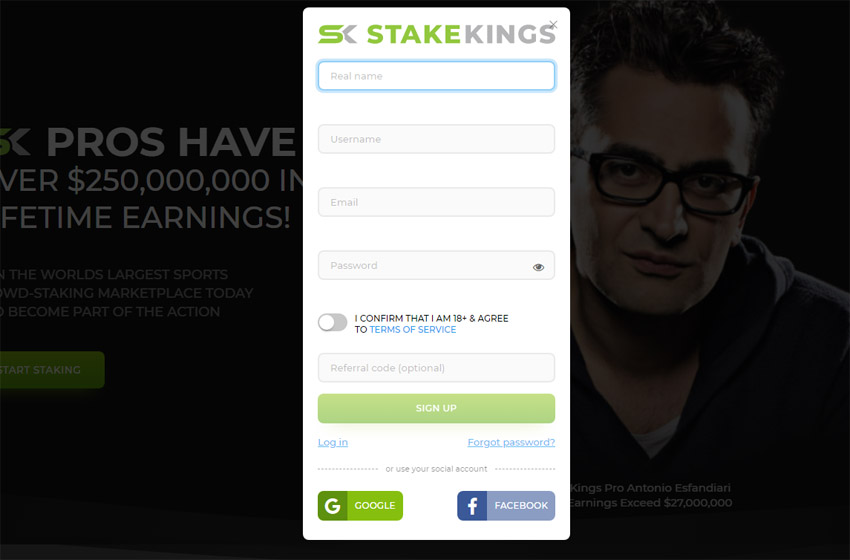 StakeKings Registration