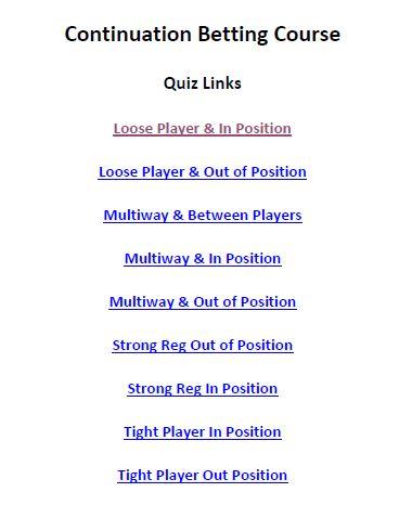 C-betting course quiz links