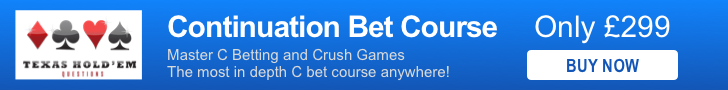 Texas Hold'em Questions c-betting course
