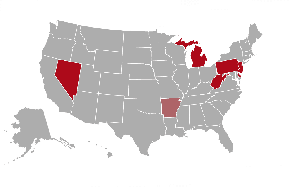US online poker map
