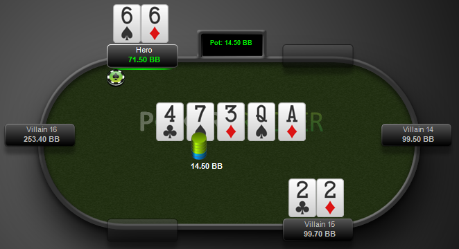 facing double-barrel donk bet at showdown